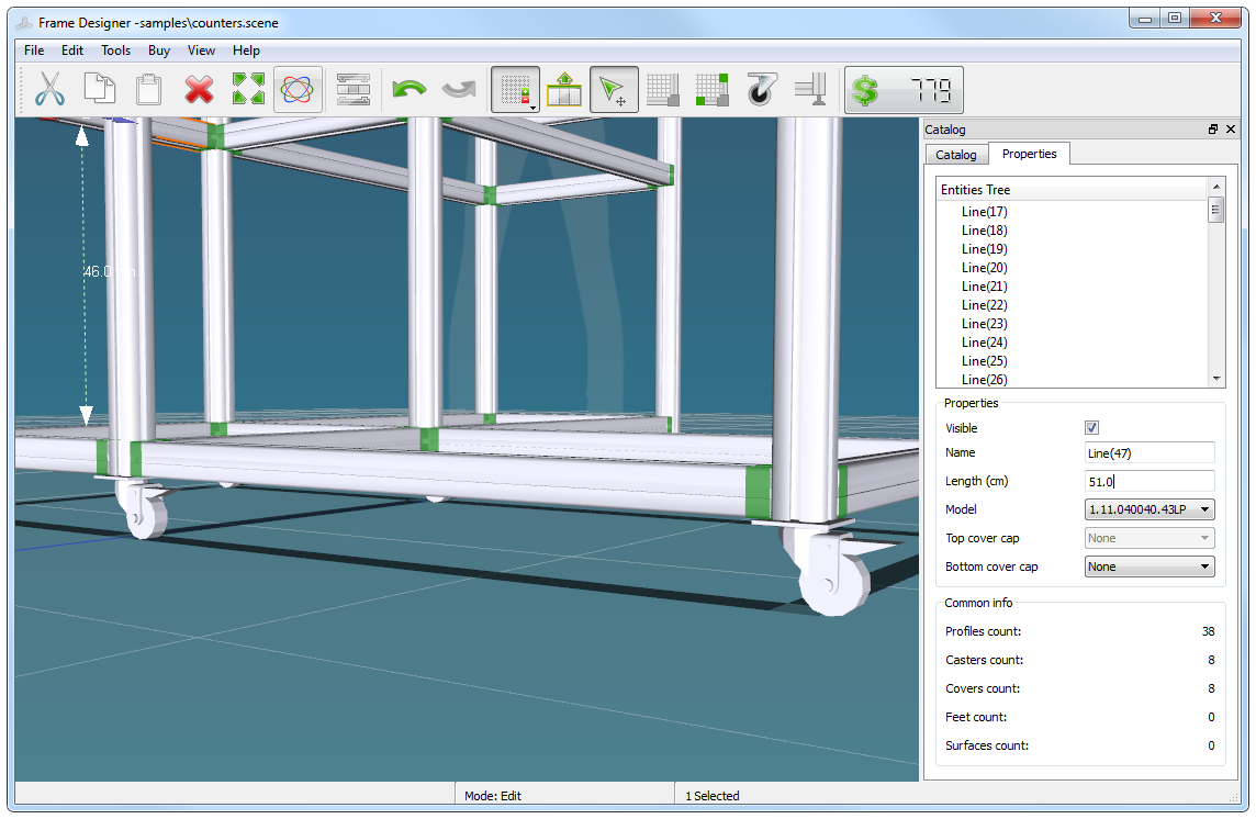 3D Software for Designing Aluminum T-Slotted Framing Project