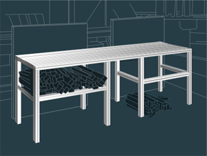Industrial Aluminum Furniture