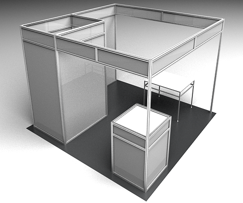 Exhibition Stand Dimensions : Framexpert custom exhibit stands